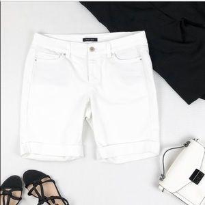 White House Black market Bermuda shorts white